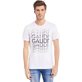 Vêtements Homme T-shirts manches courtes Gaudi 011BU64068 Blanc