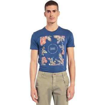 Vêtements Homme T-shirts manches courtes Gaudi 011BU64070 Bleu