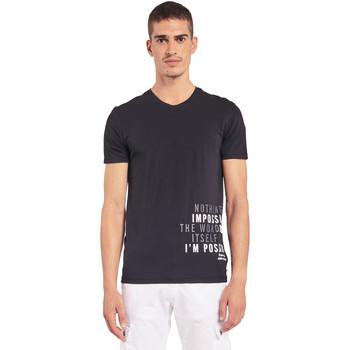 Vêtements Homme T-shirts manches courtes Gaudi 011BU64071 Noir