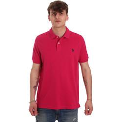 Vêtements Homme Polos manches courtes U.S Polo Assn. 55957 41029 Rose