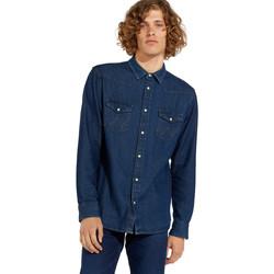 Vêtements Homme Chemises manches longues Wrangler W5MSLW301 Bleu