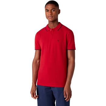 Vêtements Homme Polos manches courtes Wrangler W7D5K4X47 Rouge