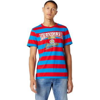 Vêtements Homme T-shirts manches courtes Wrangler W7E1FKXKL Bleu