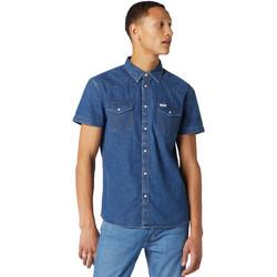 Vêtements Homme Chemises manches courtes Wrangler W5J05D50B Bleu