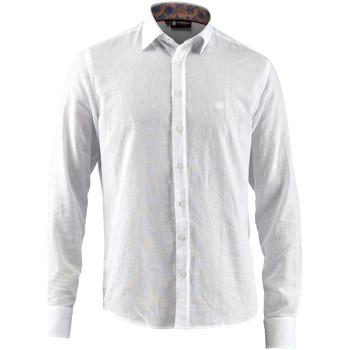 Vêtements Homme Chemises manches longues Lumberjack CM80846 001 603 Blanc