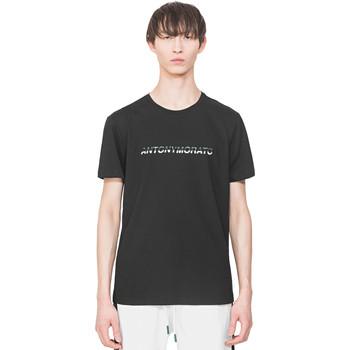 Vêtements Homme T-shirts manches courtes Antony Morato MMKS01754 FA100144 Noir