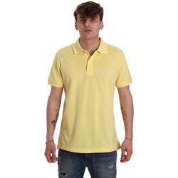 Vêtements Homme Polos manches courtes Geox M0210B T2649 Jaune