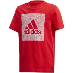 Vêtements Enfant T-shirts manches courtes adidas Originals FM4489 Rouge
