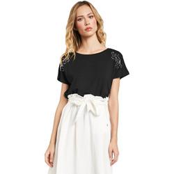 Vêtements Femme T-shirts manches courtes Gaudi 011FD64022 Noir
