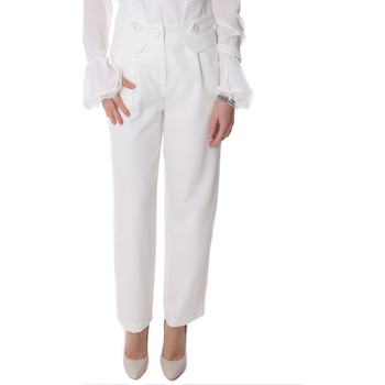 Vêtements Femme Chinos / Carrots Fracomina FR20SP164 Blanc