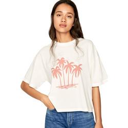 Vêtements Femme T-shirts manches courtes Pepe jeans PL504468 Beige