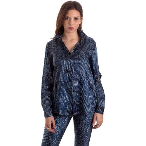 Vêtements Femme Chemises / Chemisiers Versace B0HVB601S0683904 Bleu