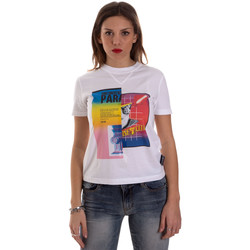 Vêtements Femme T-shirts manches courtes Versace B2HVB7V630331003 Blanc