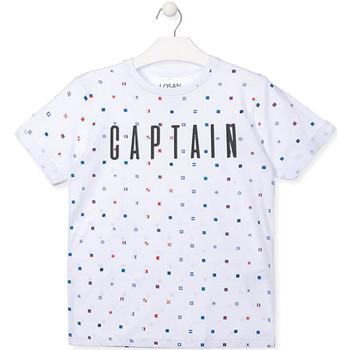 Vêtements Garçon T-shirts manches courtes Losan 013-1001AL Blanc