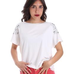 Vêtements Femme T-shirts manches courtes Gaudi 011FD64022 Blanc