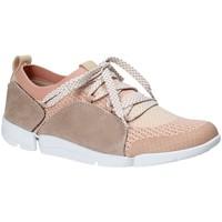 Chaussures Femme Baskets basses Clarks 131094 Rose