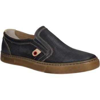 Chaussures Homme Slip ons Café Noir QT121 Bleu