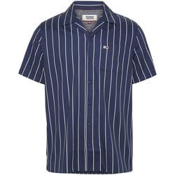 Vêtements Homme Chemises manches courtes Tommy Jeans DM0DM07900 Bleu