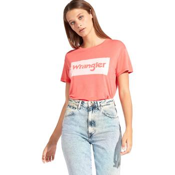 Vêtements Femme T-shirts manches courtes Wrangler W7016D Rouge