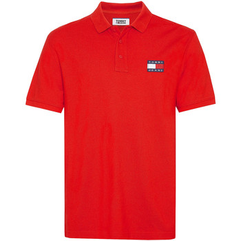 Vêtements Homme Polos manches courtes Tommy Jeans DM0DM07456 Rouge