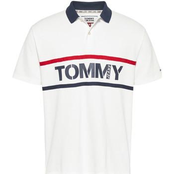 Vêtements Homme Polos manches courtes Tommy Jeans DM0DM07779 Blanc