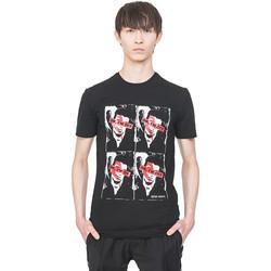 Vêtements Homme T-shirts manches courtes Antony Morato MMKS01743 FA120001 Noir