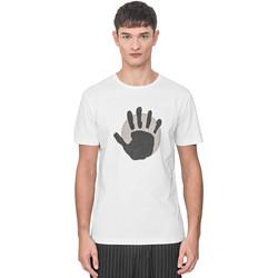 Vêtements Homme T-shirts manches courtes Antony Morato MMKS01765 FA100144 Blanc