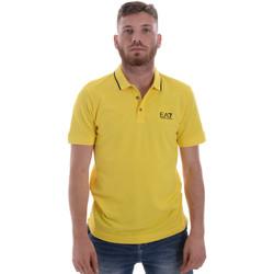 Vêtements Homme Polos manches courtes Emporio Armani EA7 8NPF06 PJ04Z Jaune