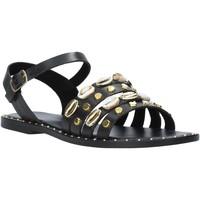 Chaussures Femme Sandales et Nu-pieds Café Noir GB174 Noir