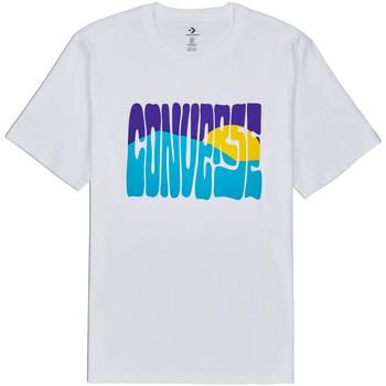 Vêtements Homme T-shirts manches courtes Converse 10018864-A01 Blanc