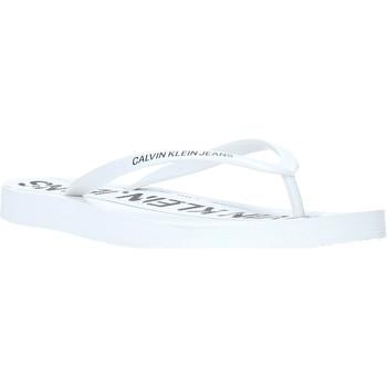 Chaussures Femme Tongs Calvin Klein Jeans B4R0904 Blanc
