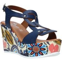Chaussures Femme Sandales et Nu-pieds Grace Shoes 09 Bleu