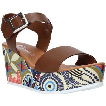 Chaussures Femme Sandales et Nu-pieds Grace Shoes 07 Marron