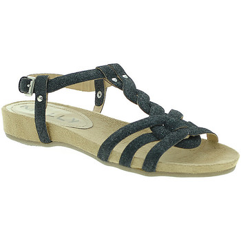 Chaussures Femme Sandales et Nu-pieds Mally 3828GL Noir