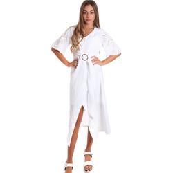 Vêtements Femme Robes longues Fracomina FR20SM561 Blanc
