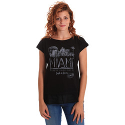 Vêtements Femme T-shirts manches courtes Key Up 5Z10S 0001 Noir