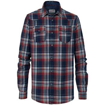 Vêtements Homme Chemises manches longues Petrol Industries SIL408 3061 FIRE RED Bleu