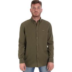 Vêtements Homme Chemises manches longues Les Copains 9U2371 Vert