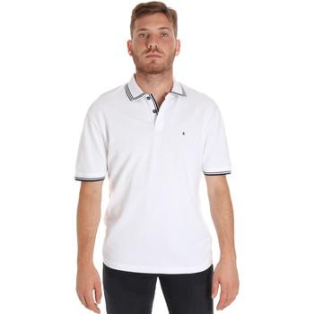 Vêtements Homme Polos manches courtes Les Copains 9U9020 Blanc