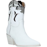 Chaussures Femme Bottines Mally 6918P Blanc