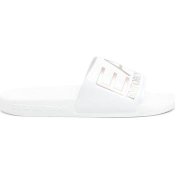 Chaussures Femme Claquettes Emporio Armani EA7 XCP001 XCC22 Blanc