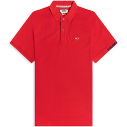 Vêtements Homme Polos manches courtes Tommy Jeans DM0DM07802 Rouge