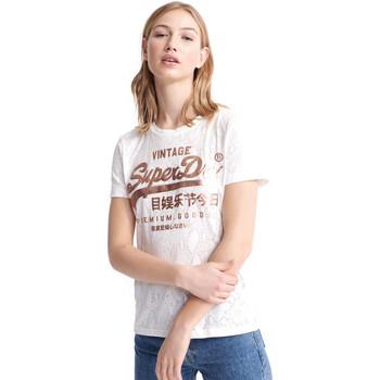 Vêtements Femme T-shirts manches courtes Superdry W1010090A Blanc
