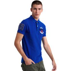 Vêtements Homme Polos manches courtes Superdry M1110008A Bleu