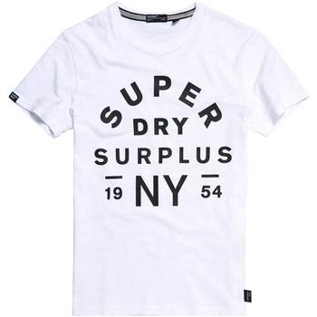 Vêtements Homme T-shirts manches courtes Superdry M1010113A Blanc
