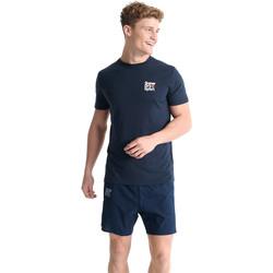 Vêtements Homme T-shirts manches courtes Superdry MS300015A Bleu