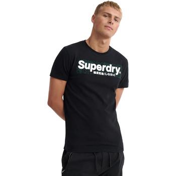 Vêtements Homme T-shirts manches courtes Superdry M1000069A Noir