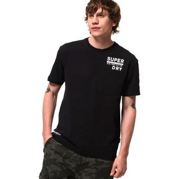 Vêtements Homme T-shirts manches courtes Superdry M1000040A Noir