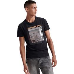 Vêtements Homme T-shirts manches courtes Superdry M1000047A Noir