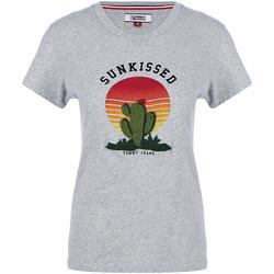 Vêtements Femme T-shirts manches courtes Tommy Hilfiger DW0DW04671 Gris